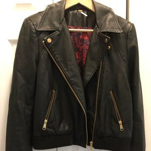 Free People Faux Leather Jacket